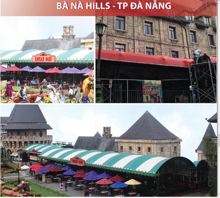 Mái Che Bạt Căng Cho Khách Sạn